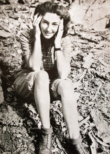 Black and white photograph of Krystyna Skarbek, aka Christine Granville - the first woman to work for Britain as a special agent during the Second World War.
