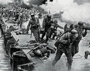 German-troops-in-retreat,-1918