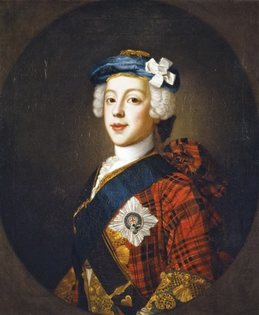Prince Charles Edward Stuart (1720- 1788), the Jacobite 'Young Pretender', aka 'Bonnie Prince Charlie'. His father, James Edward Stuart (1688-1766), the 'Old Pretender', was still alive at the time of the Forty-Five, so it was in his name that the rebellion was raised.