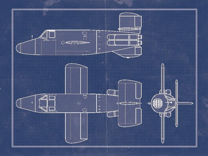 Blueprint of a Natter aircraft