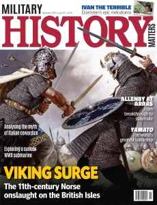 Front cover of Military History Matters 110, the November 2019 issue.
