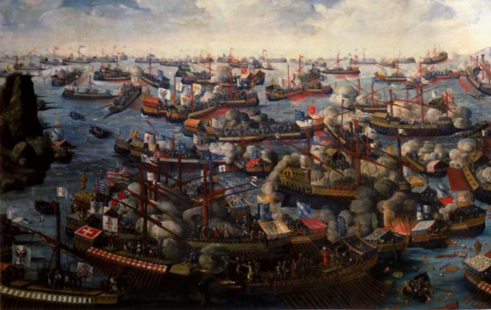 The Battle of Lepanto, 1571.