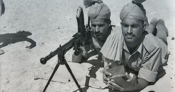 Indian soldiers fight for Britain during the Second World War.