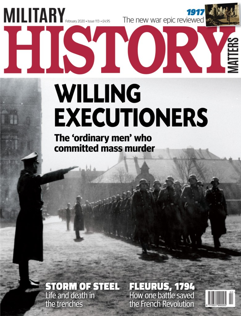 Front cover of Military History Matters 113, the February 2020 issue.