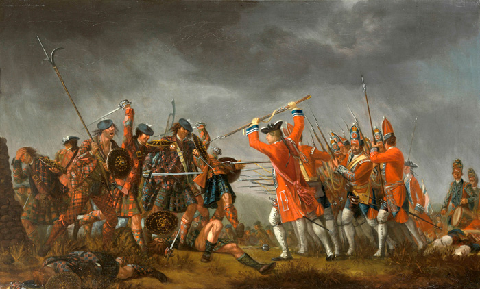 An Incident in the Rebellion of 1745, by David Morier.