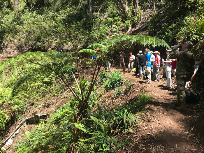 Cranfield University and DPAA teams training in Hawaii. Almost 40,000 WWII casualties are thought to be recoverable. Image: Cranfield University