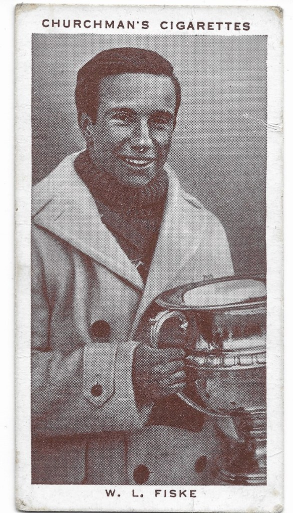 A cigarette card of Fiske from the late 1930s.