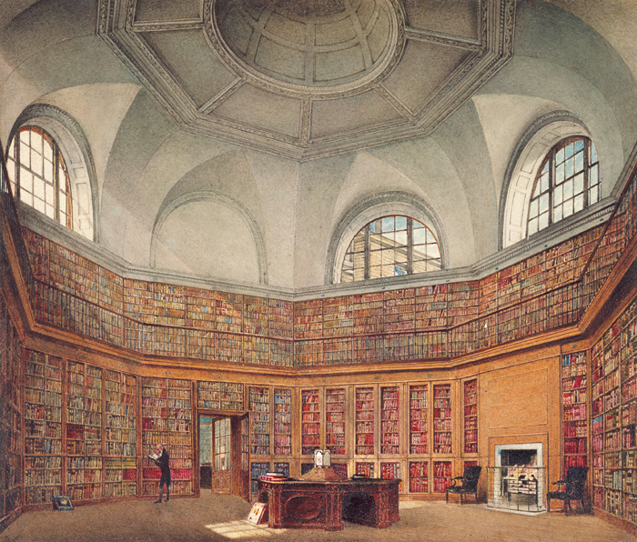 The Octagon Library at Buckingham House, 1818. Image: Royal Collection Trust.