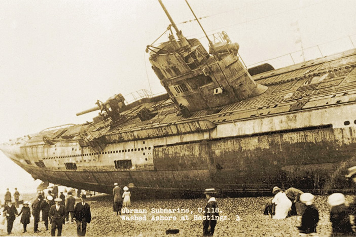 BEHIND THE IMAGE: U-Boat on Hastings beach, April 1919