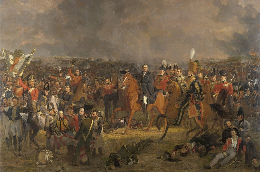 Jan Willem Pieneman's 1824 painting, 'The Battle of Waterloo'.