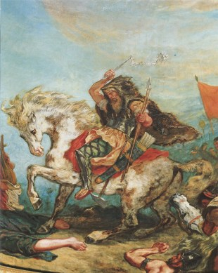 Attila the Hun riding a pale horse, by Eugène Delacroix (1798–1863). Credit: Wikimedia Commons