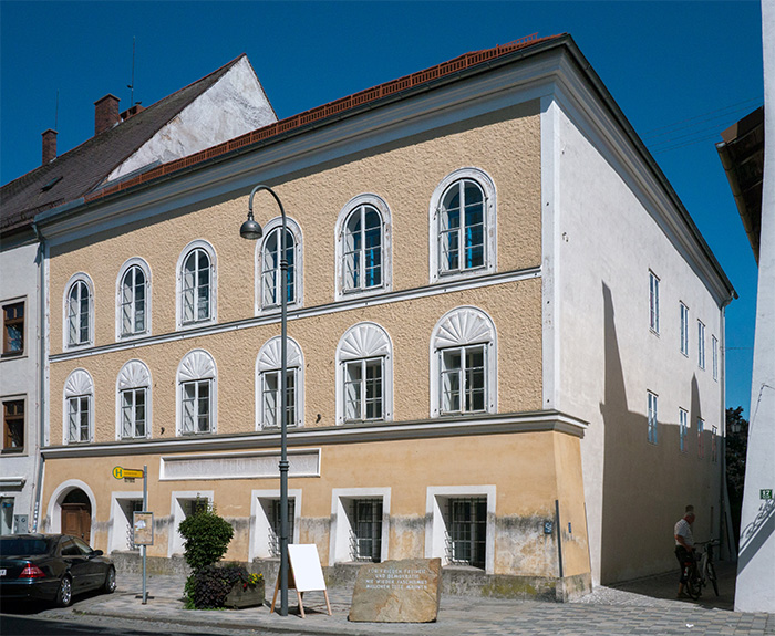 The site of Hitler's birthplace in Braunau am Inn, Austria. The proposed redesign is intended to prevent it from becoming a neo-Nazi shrine.