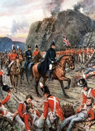 Wellesley at the Siege of Badajoz in 1812. A master of war on land as Nelson was a master of war at sea, they were perhaps unsurpassed by any British generals or admirals of the 20th century.