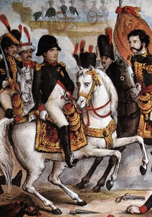 Napoleon at Austerlitz. He had made a personal reconnaissance almost two weeks beforethe battle. He conceived his plan with a perfect understanding of the ground.