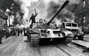 4.Warsaw Pact troops invasion, Prague, Czechoslovakia, August 19