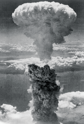 The atomic explosion over Nagasaki, 9 August 1945.