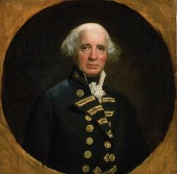 Admiral Richard 'Black Dick' Howe (1726-1799).
