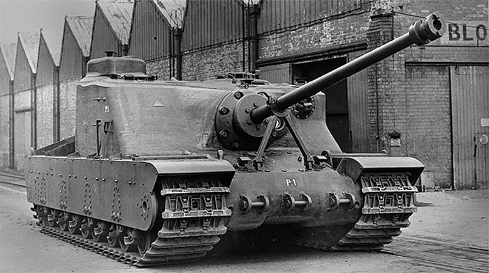A prototype of the Tortoise, which proved in testing to be a 'dead-end'.