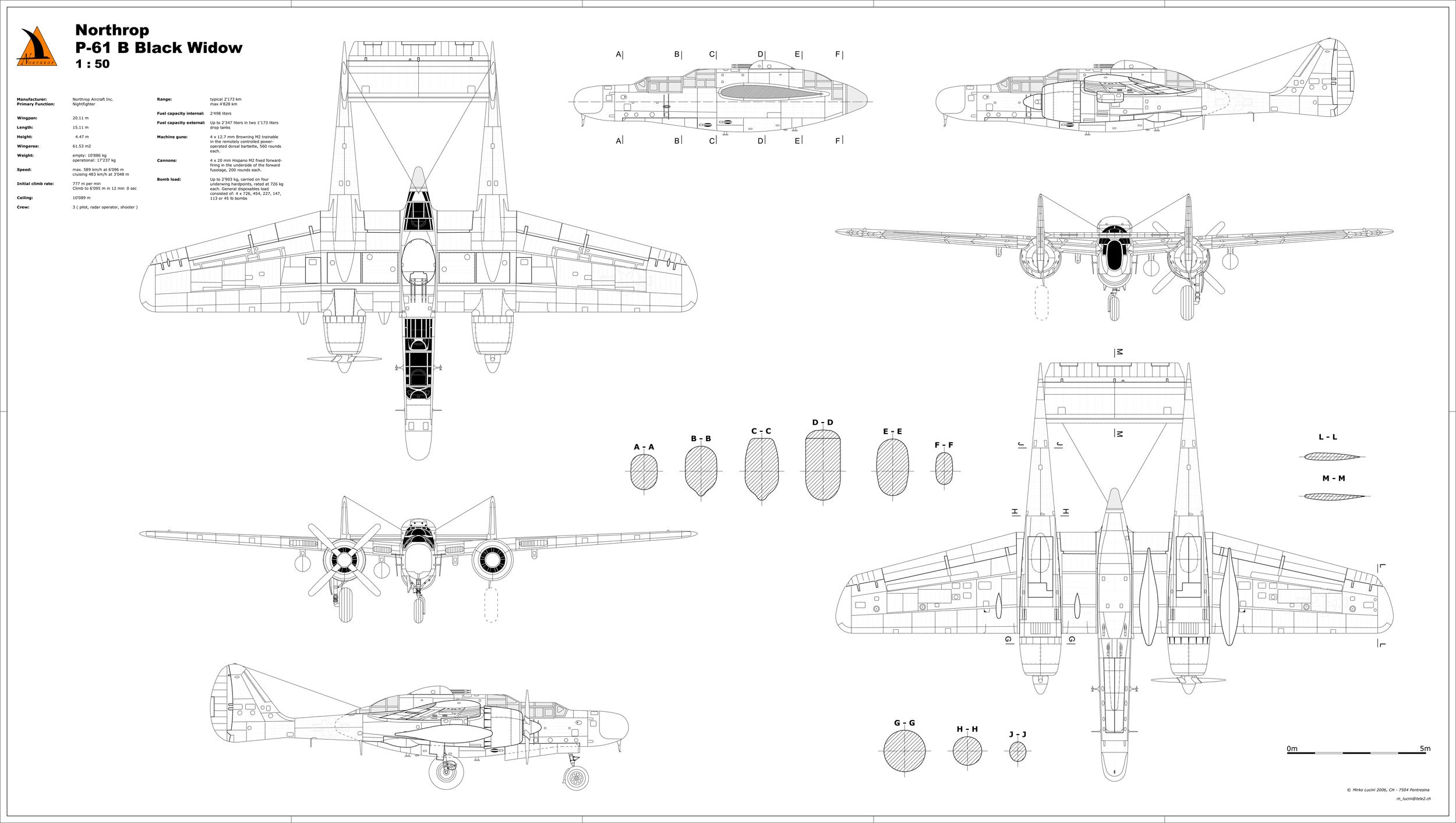 Northrop P 61 Black Widow