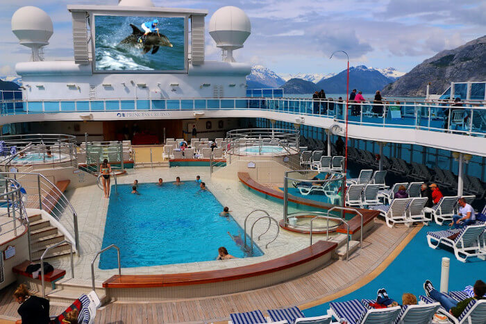 Alaska Cruise Discounts for Military and Veterans Pool Deck Alaska Cruise