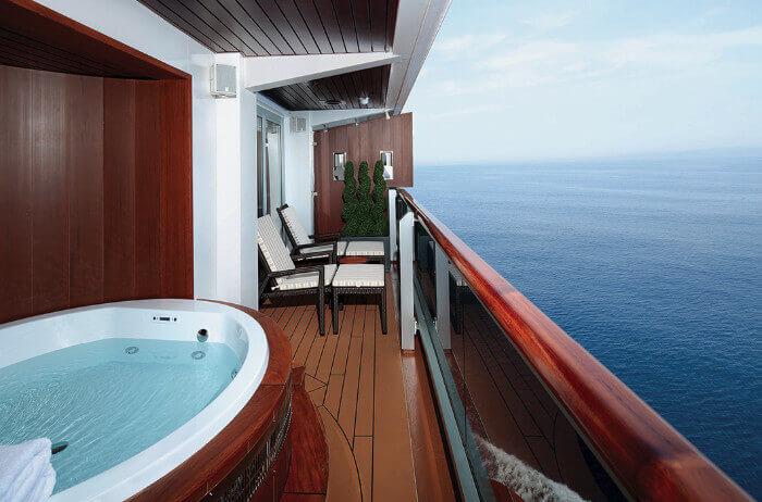 Spa Balcony Pinnacle Suite Holland Koningsdam