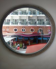 Find Deals Porthole View of the Boardwalk