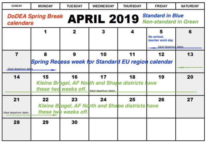 April 2019 Calendar Small