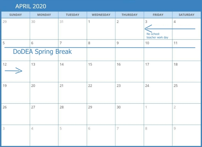 DODEA Spring Break Calendar700 Spring Break Cruise Deals for Military Families in Europe