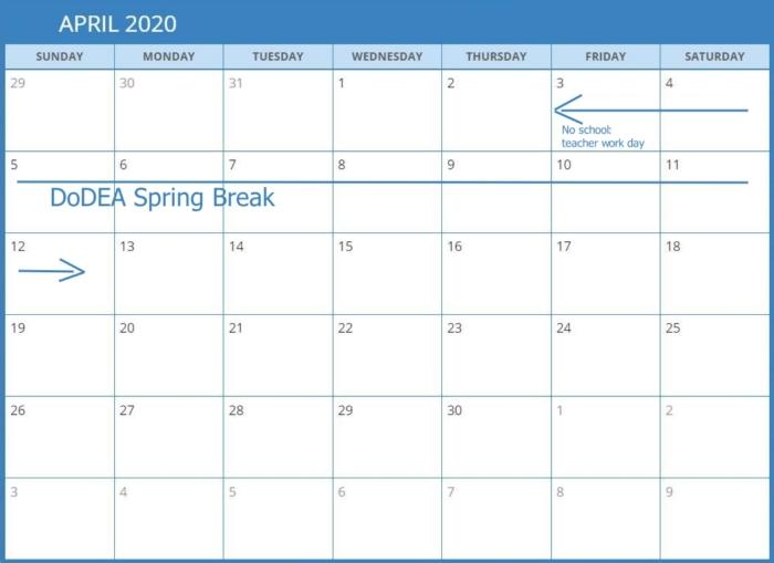 DODEA Spring Break Calendar700 Spring Break Cruise Deals for Military Families in Europe