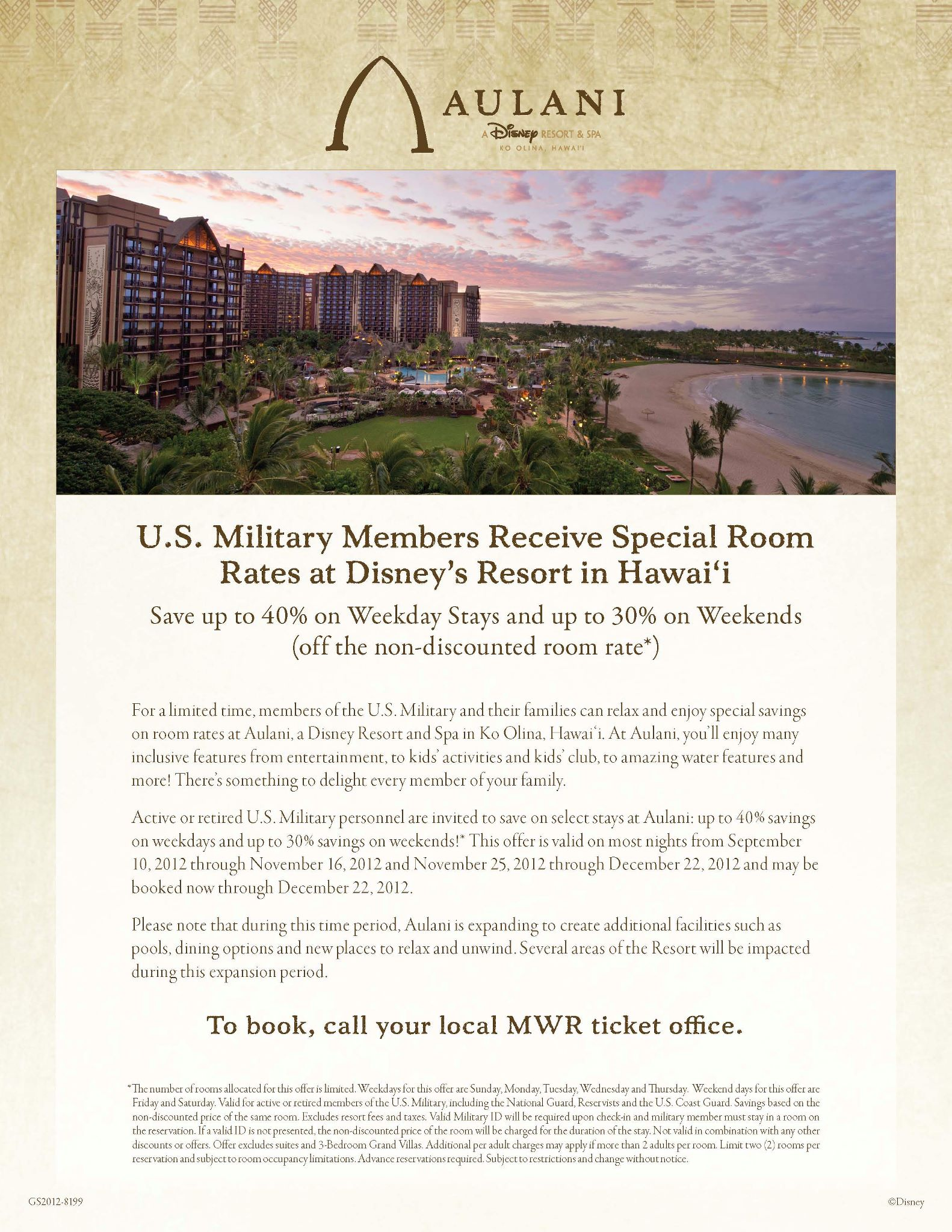 Military Discounts Archives Page Of Military Disney Tips Blog - Aulani discounts