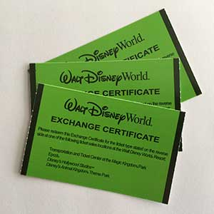 Disney Armed Forces Salute Paper Vouchers