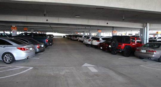 Disney-Springs-High-Tech-Parking-Row