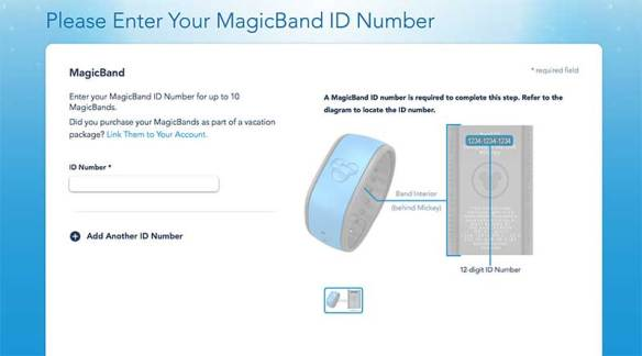 Linking Magic Bands to you My Disney Experience Account