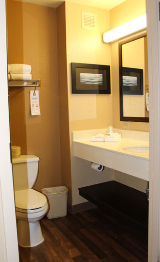 Bathroom Vanity Extended Over Toilet: Extended Stay America Review