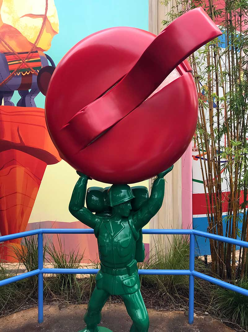 Toy Story Land Green Army Men Lift