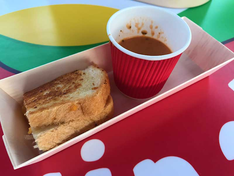 Toy Story Land Woodys Lunch Box Grilled Cheese