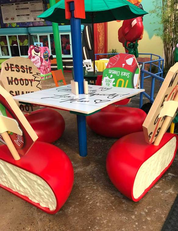 Toy Story Land Woodys Lunch Box Seating