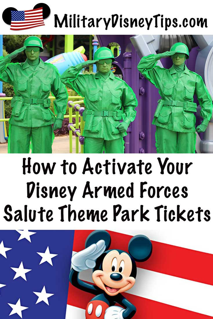 How to Activate Your 2019 Disney Armed Forces Salute Theme Park