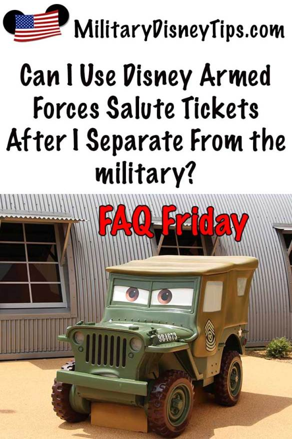 Can I use the Disney Armed Forces Salute After the Military?