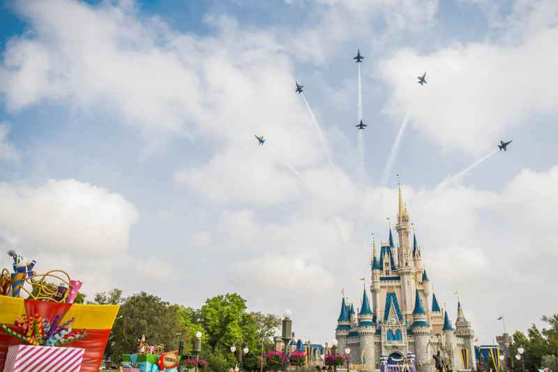 Navy Blue Angels fly over Walt Disney World's Epcot (C) Disney