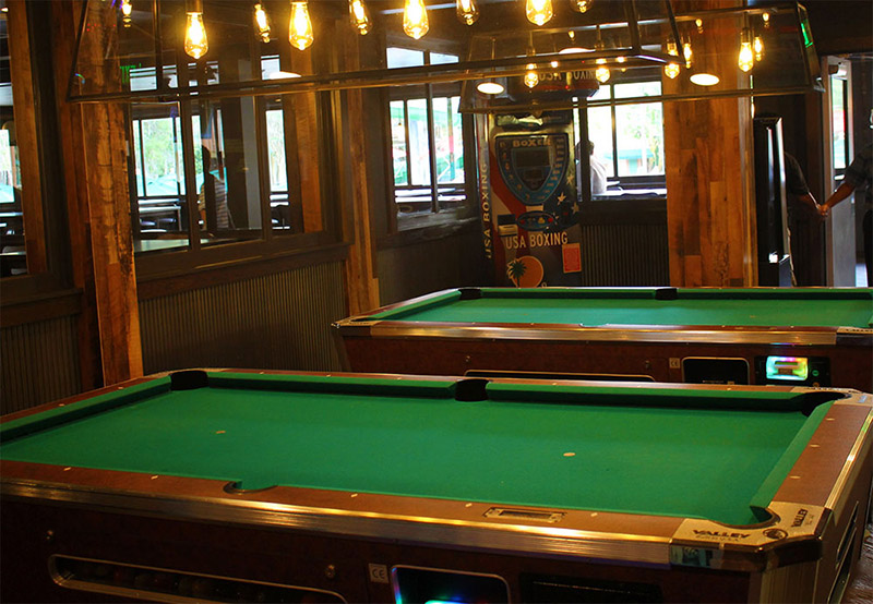 Shades of Green Resort Evergreen's Sports Bar Review Pool Tables