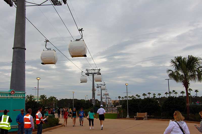 Walt DIsney World Skyliner Testing