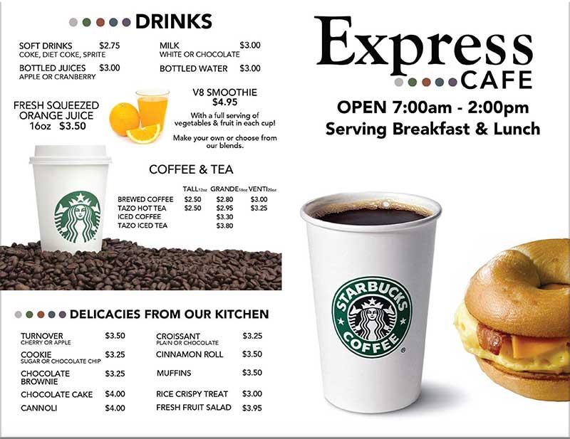 Shades of Green Resort Express Cafe Menu Page 1