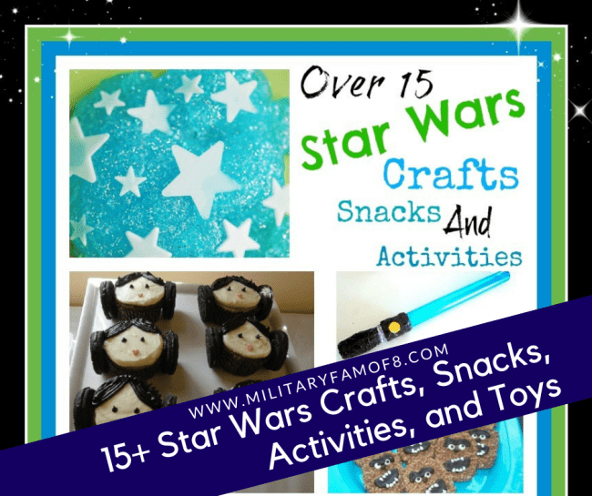 15+ Star Wars Crafts, Snacks, Activities, and Toys! If you are looking for something in this galaxy that will help you pass the time AND be productive, this post is it! Here you will find over 15 crafts, snacks, activities, toys and so much more; all themed with our favorite movie series: Star Wars #StarWars