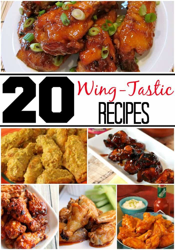 20 Game Day Wing Recipes You Will Love!     Here are some wing recipes that will leave you wanting more, good thing there are 20 recipes in here to choose from!
