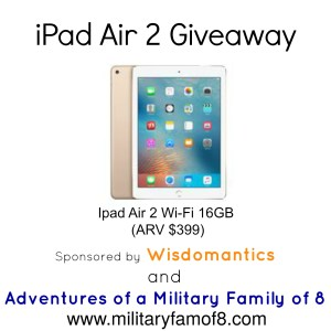Wisdomantics Family Game Q&A w/Creator and iPad Air 2 Giveaway