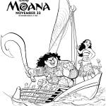 Disney Movie: Moana Coloring Book Pages and Official Trailer