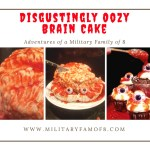 Disgustingly Oozy Brain Cake. With step-by-step instructions and a video with the end result, there is no way you can get this cake wrong! You will Definitely be voted the coolest & creepiest house in your town! Creepy Halloween Cake.