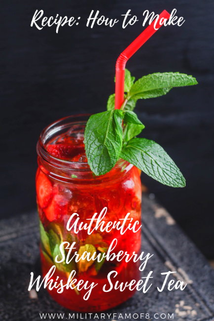 Authentic Strawberry Whiskey Sweet Tea Ultimate List of Holiday Cocktail & Mocktail Recipes