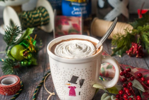 Santa's Little Helper Spiked Hot Chocolate Ultimate List of Holiday Cocktail & Mocktail Recipes